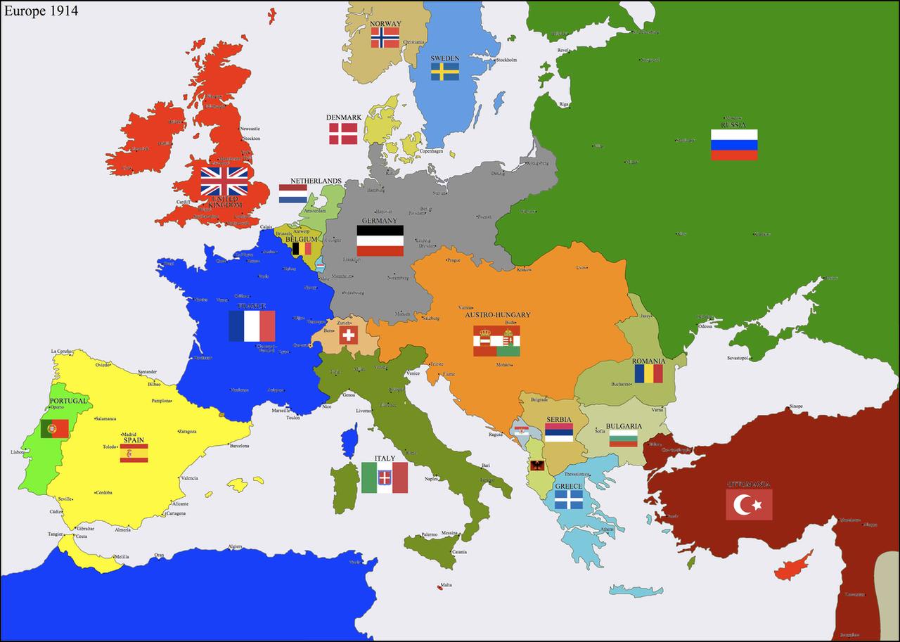 Europe 1914 by Hillfighter on DeviantArt