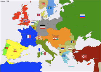 Europe 1914 by Hillfighter