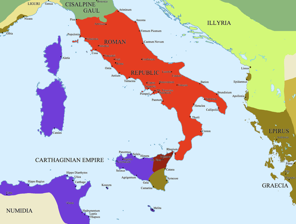 punic wars The first punic war began in 264 bc when settlements on sicily began to appeal to the two powers between which they lay -- rome and carthage -- to solve.