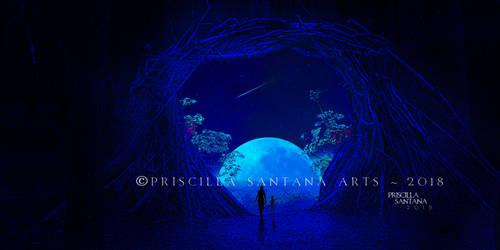The Moon by PriscillaSantanaArts