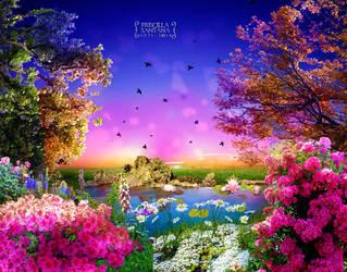 Garden Wonderlamd by PriscillaSantanaArts