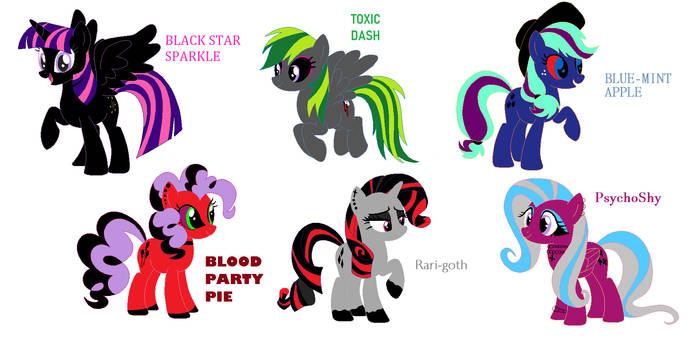 Goth Ponies!!!!!!