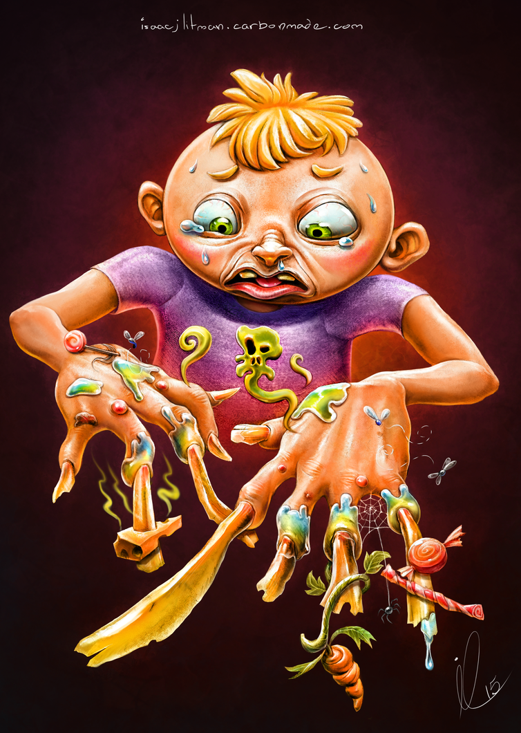Child with the Uncleanable hands by IsaacJLitman