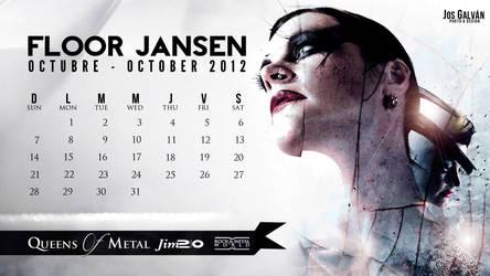 Floor Jansen Calendar : October 2012