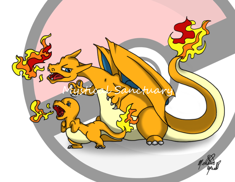 Charizard and Charmander Baby by ChiiLissa