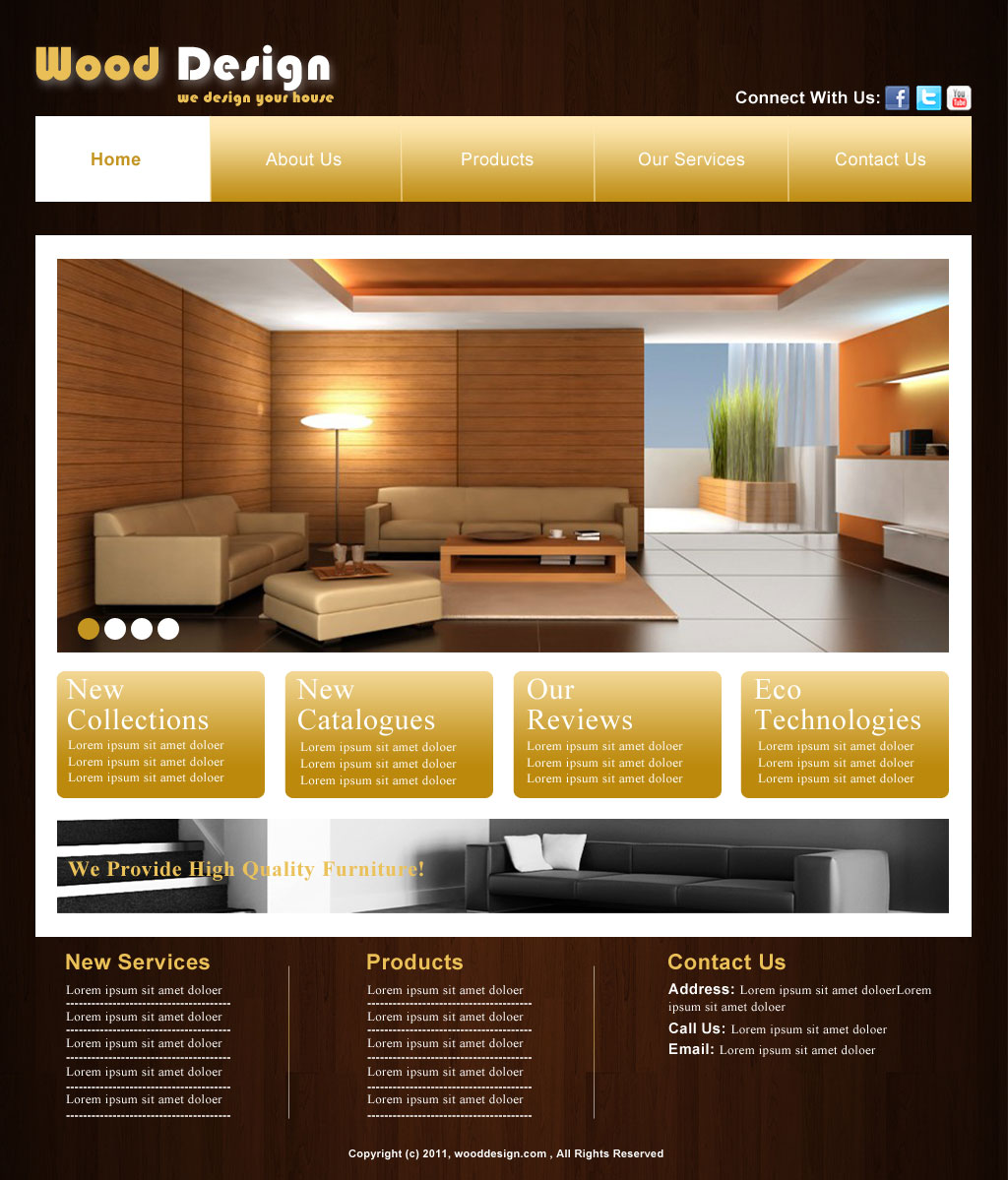 Furniture Web Design By Aliraza91 On DeviantArt
