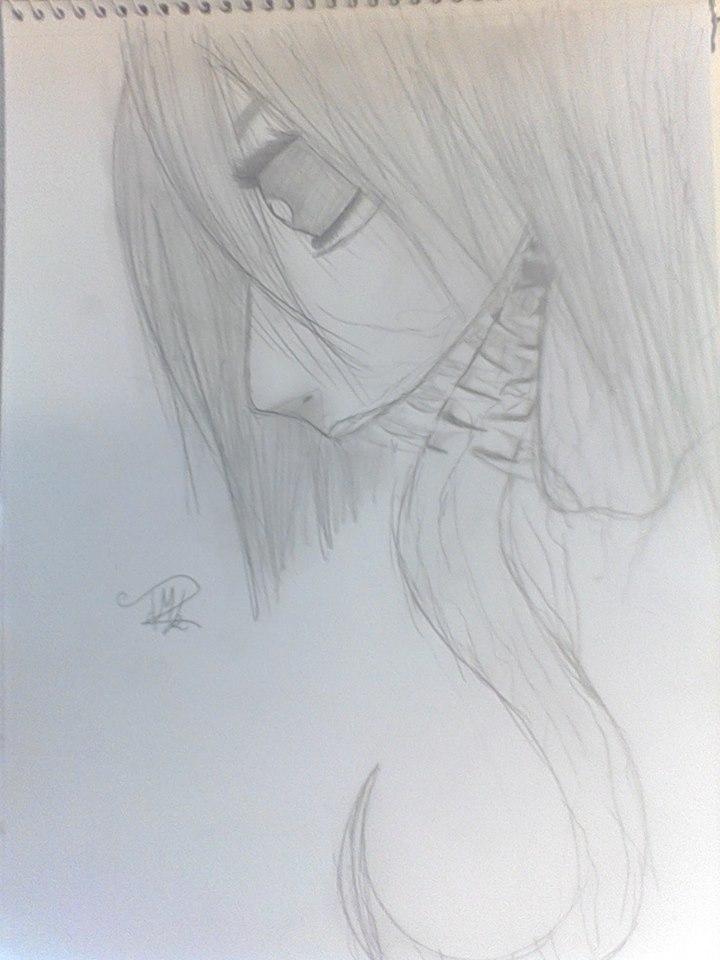 Dragon/Demon face sketch before transformation by TatsukiMakaiLight