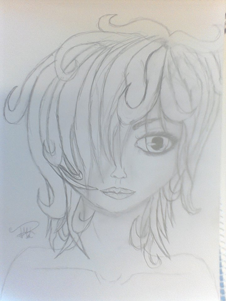 Cute Curly Hair Girl by TatsukiMakaiLight