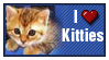 I Heart Kitties Stamp by violetomega