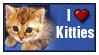 I Heart Kitties Stamp