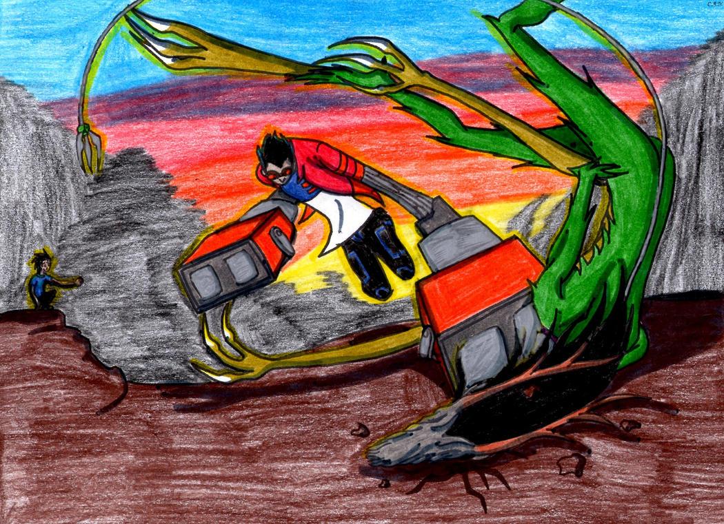 Rex v.s. Cesar by Alice-WhiteRabbit