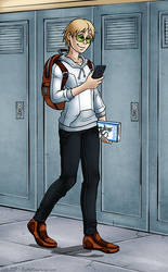 Ben at School by Amphurious