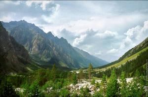 Kind on gorge Adyr-su