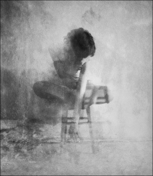 Girl on a chair by andreydubinin