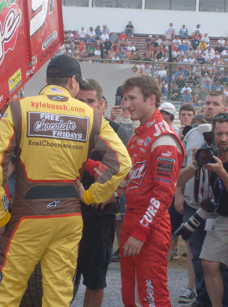 Kasey Kahne and Kyle Busch by SongWriter9