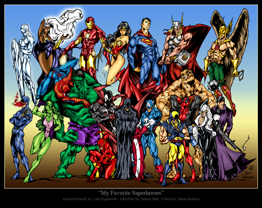 My Favorite Superheroes by texas0418
