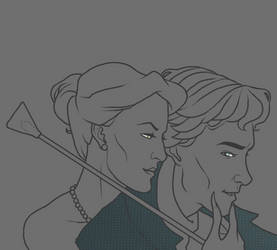Hat Detective and Woman WIP