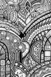 Psychedelic Romanesque 2 by Artwyrd
