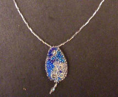 Blues and Silver Pendant 1