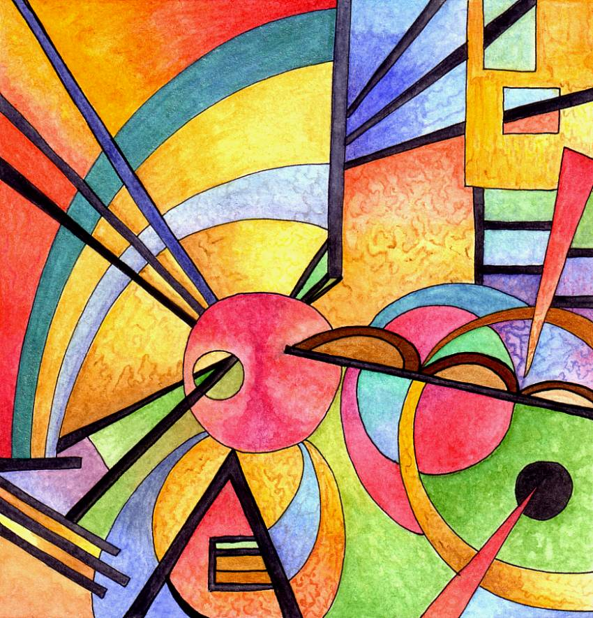 Famous Art Using Line : Kandinsky inspired by artwyrd on deviantart