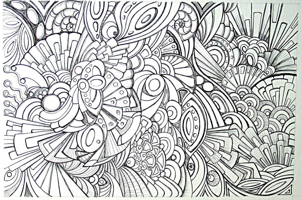 Biro abstract 29march2010 wip by artwyrd on deviantart - Mandala beau et difficile ...