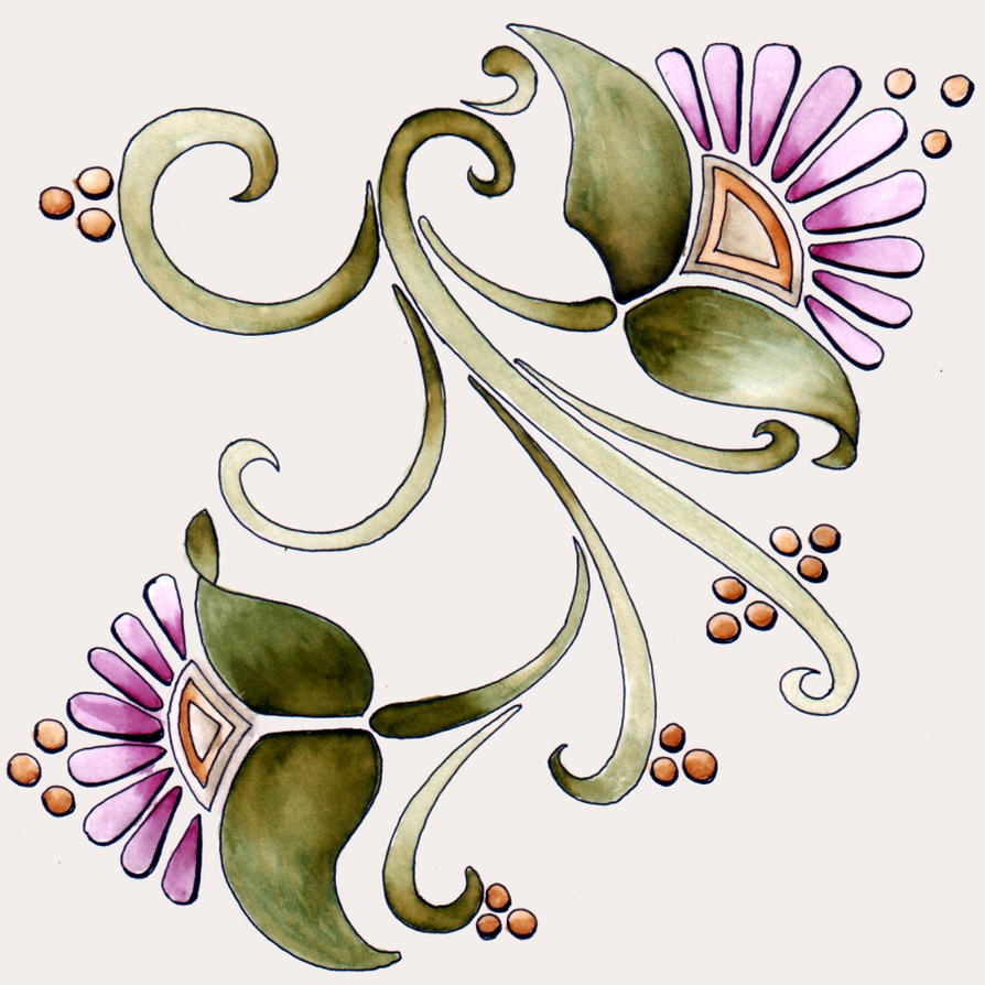 Art Nouveau Flowers 1 23Dec11 By Artwyrd On DeviantArt