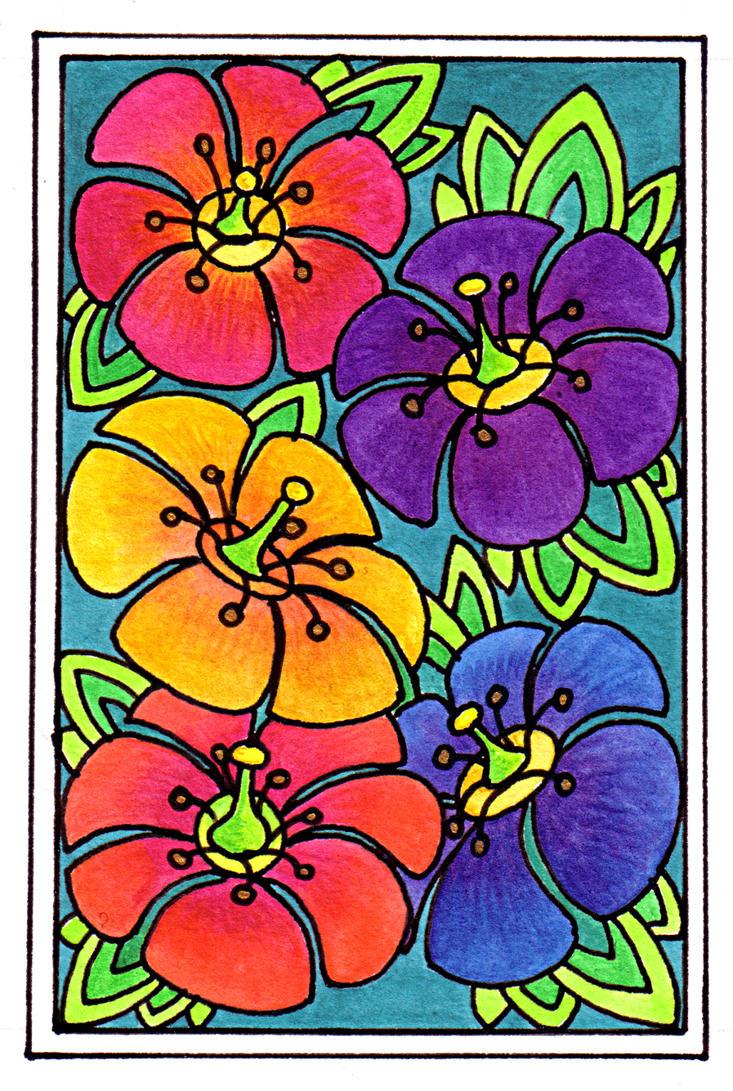 Nondotty flowers 15Aug12 by Artwyrd
