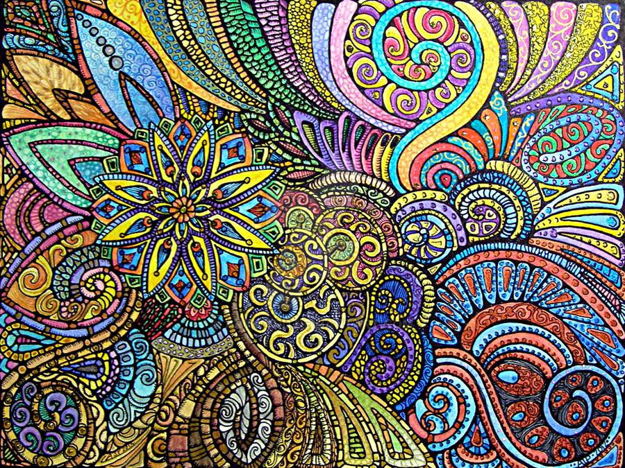 Let It Grow Coloured by Artwyrd