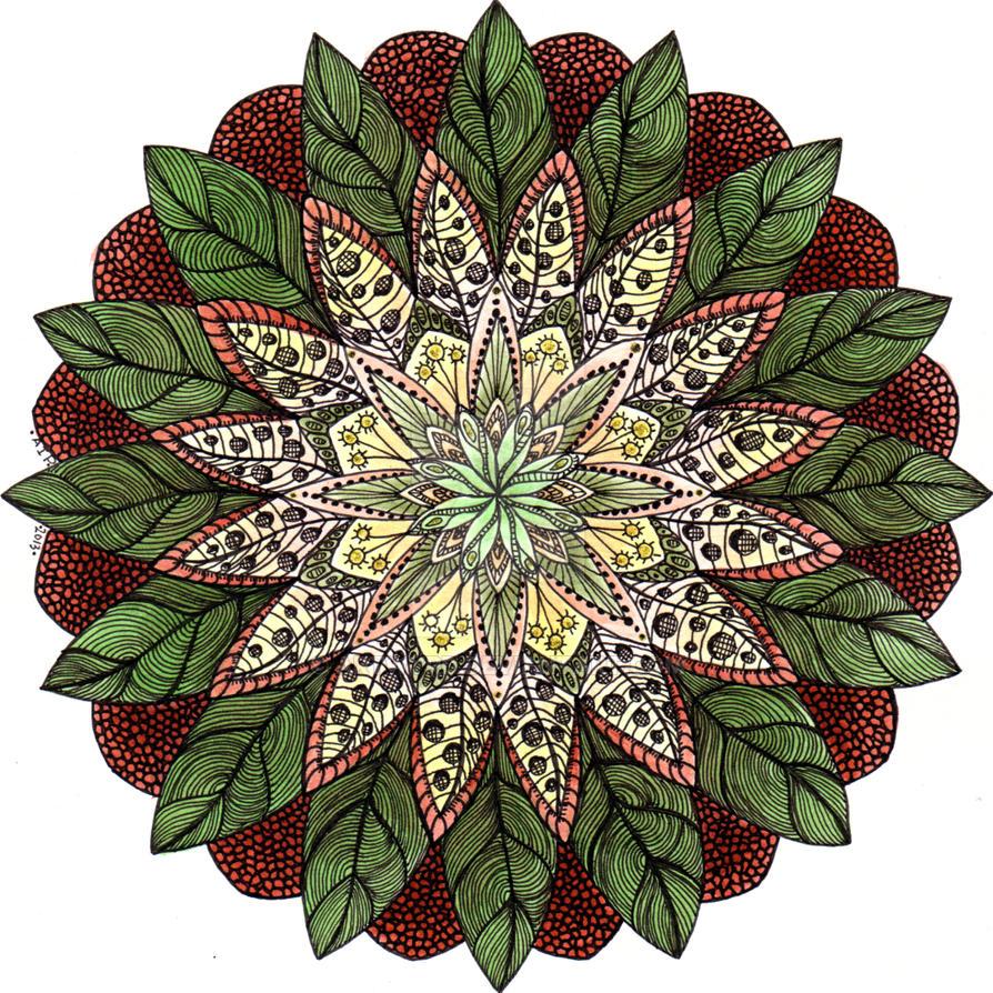 Theta Mandala 3 by Artwyrd