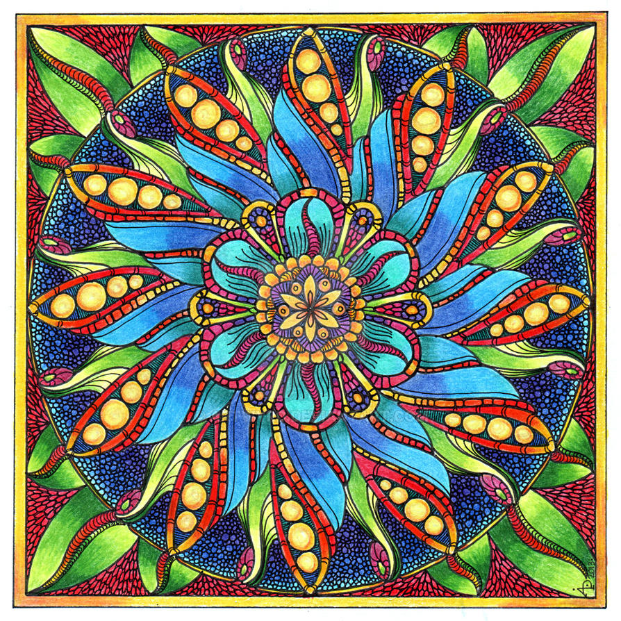 August Mandala 4 Finished By Artwyrd