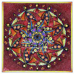 August Mandala 8 with background completed.