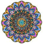 Coloured Version of Mandala 24 June 2014