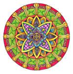 Coloured Version of Mandala 29 June 2014