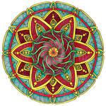 Coloured Version of Mandala 1 July 2014