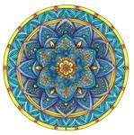Coloured Mandala 2 July 2014