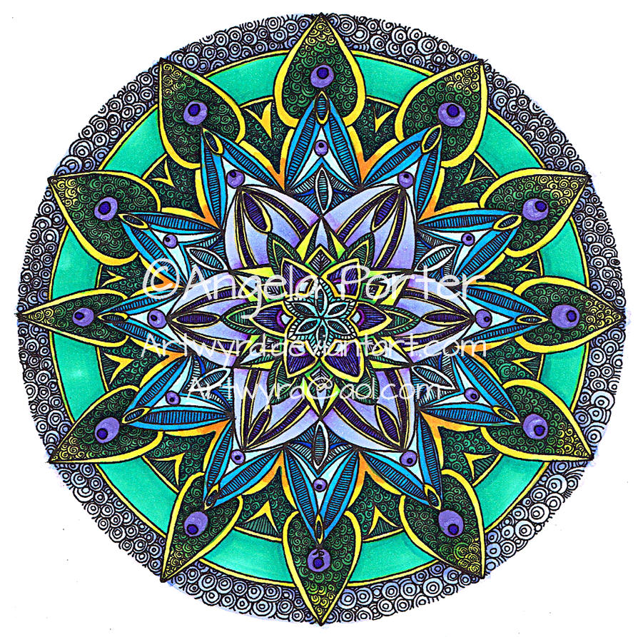 Coloured Mandala 14 Sept 2014 by Artwyrd