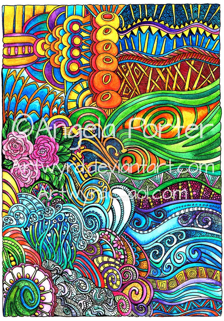 Brightly colourful by Artwyrd