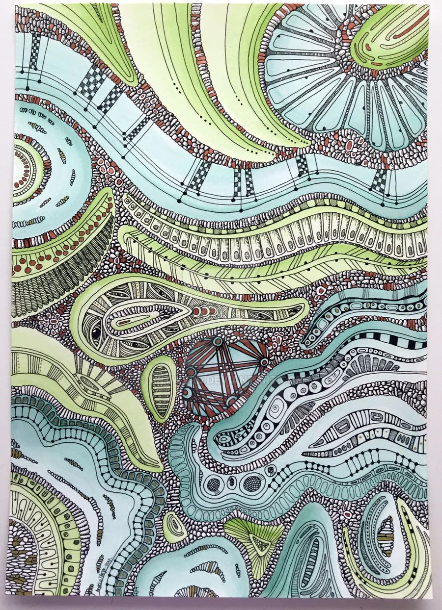 Abstract mixed media drawing by Artwyrd