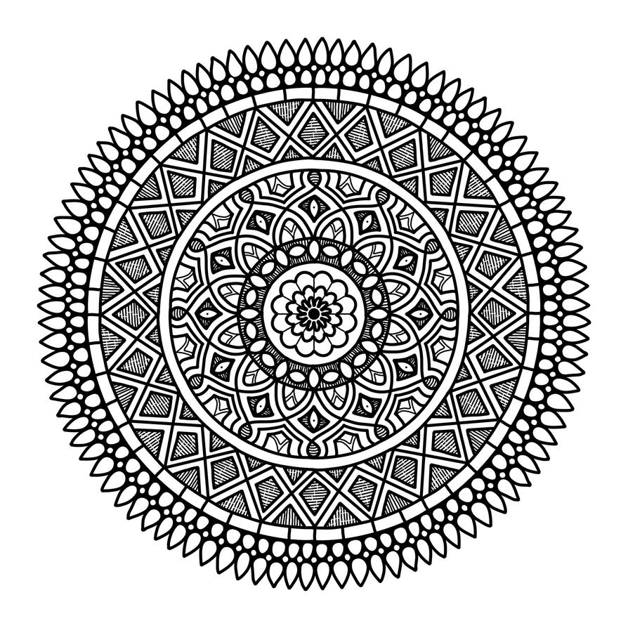 Mandala H by Artwyrd