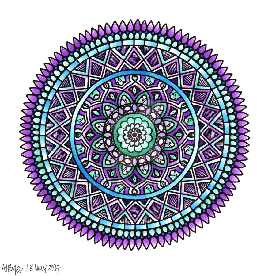 Mandala H coloured AngelaPorter 18May2017 by Artwyrd