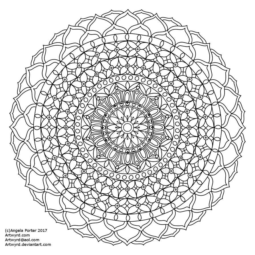 Mandala l Small AngelaPorter 18May2017 by Artwyrd