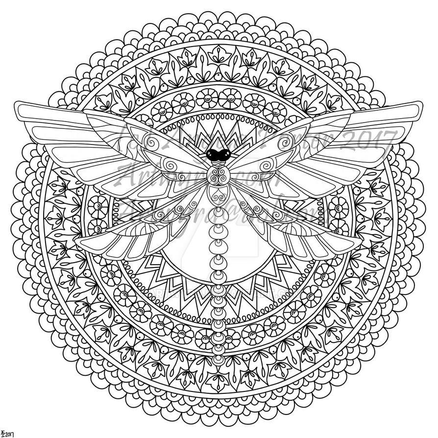 Dragonfly Mandala by Artwyrd