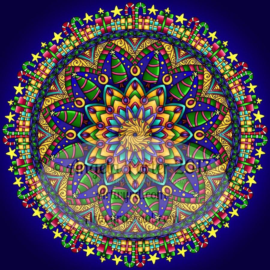 Christmas Mandala by Artwyrd on DeviantArt