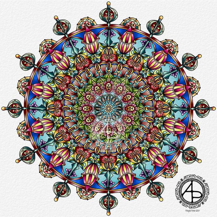Mandala - Angela Porter 9 March 2019 by Artwyrd