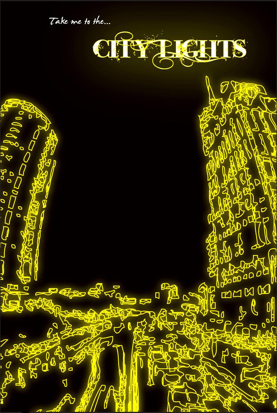 city lights poster 2 by nitros124 on deviantart. Black Bedroom Furniture Sets. Home Design Ideas
