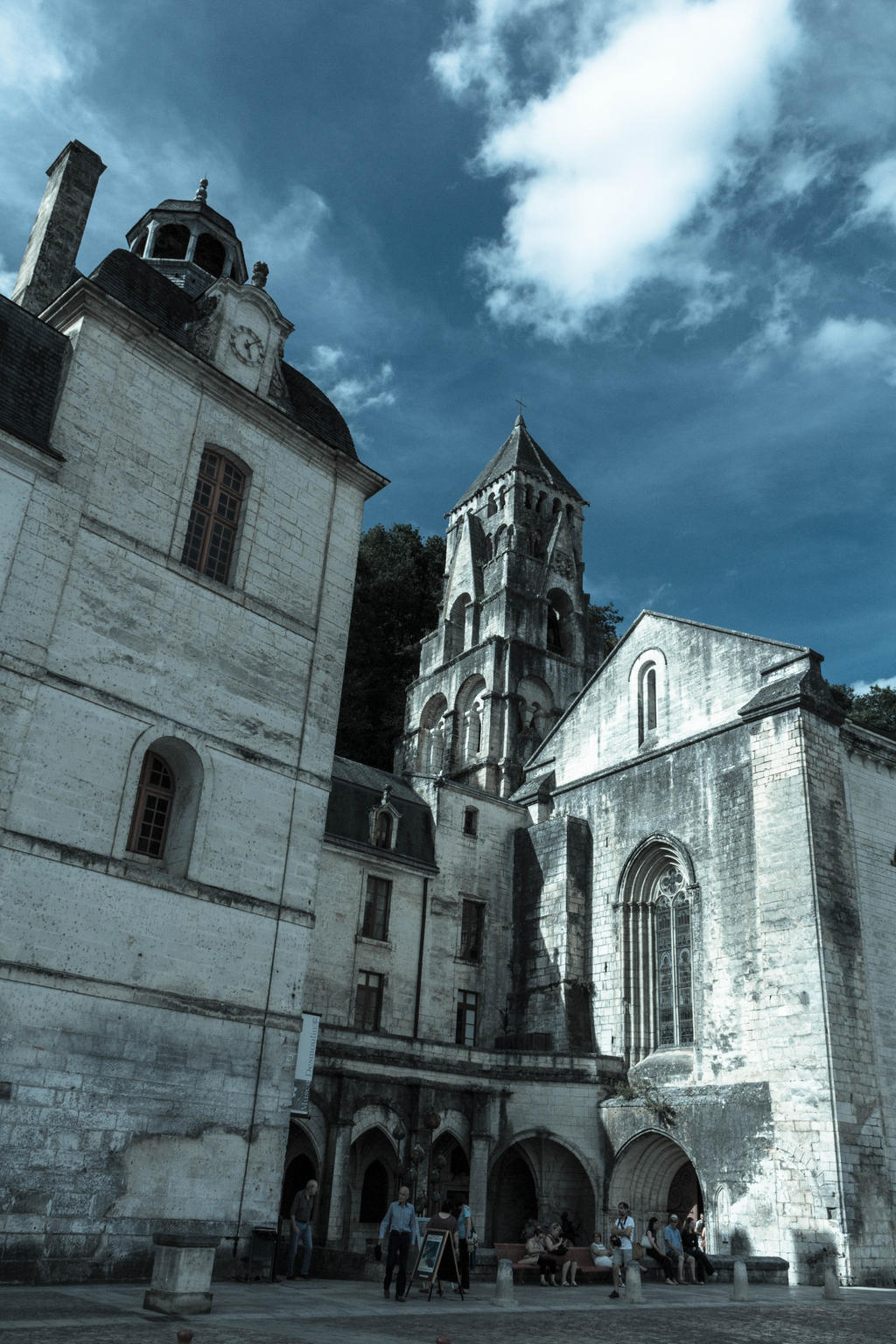 Abbey of Brantome bell-tower by FubukiNoKo