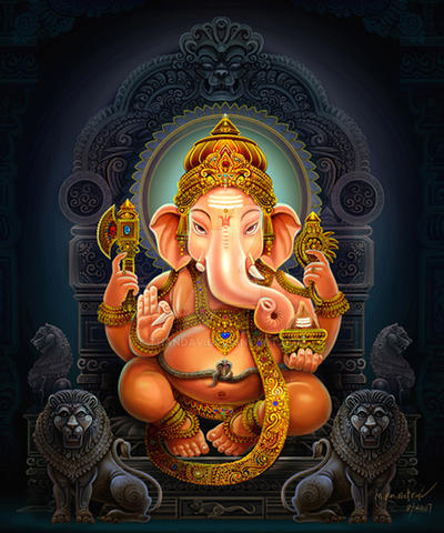 Lord Ganesh by thandav