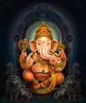Lord Ganesh by thandav