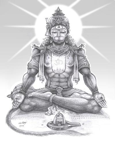 Meditating Hanuman By Thandav On Deviantart