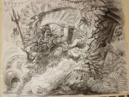 Rudravathra Veerabhadra Shiva by thandav